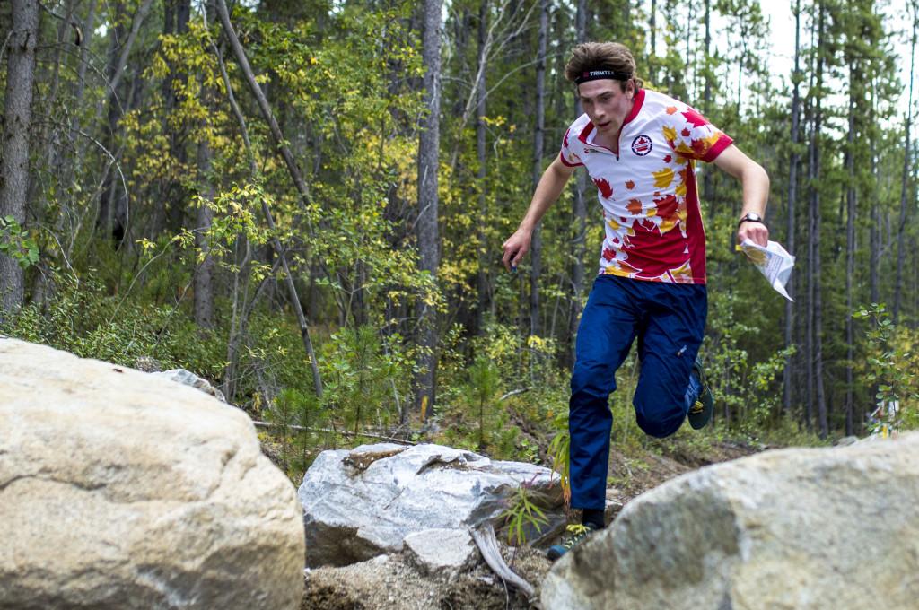 Caelan McLean takes part in a fun orienteering relay near Kopper King on Wednesday, Aug. 11, 2016. Photo by Marissa Tiel