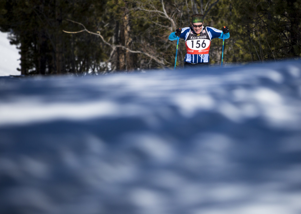 Rob Mcconnell takes part in the inaugural Yukon Ski Marathon, a 50K or 20K race that finished at Mount McIntyre.
