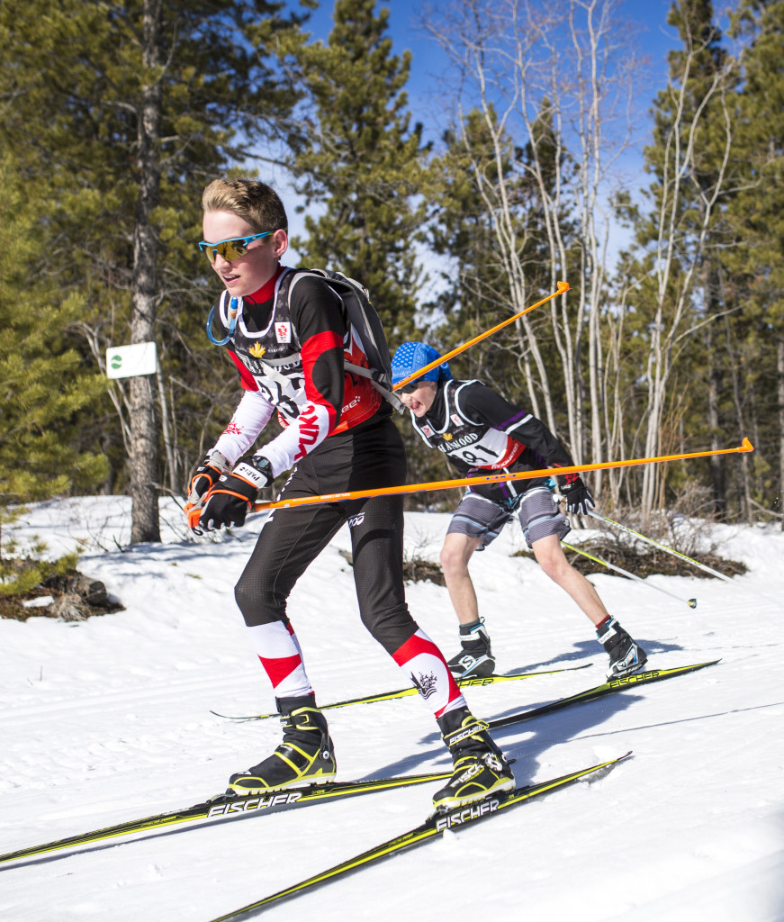 Sasha Masson and Victor Thibeault take part in the inaugural Yukon Ski Marathon, a 50K or 20K race that finished at Mount McIntyre.