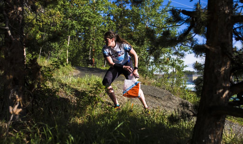 Athletes take part in the Yukon Orienteering Championships sprint race in Riverdale on June 14, 2017. Jennifer MacKeigan